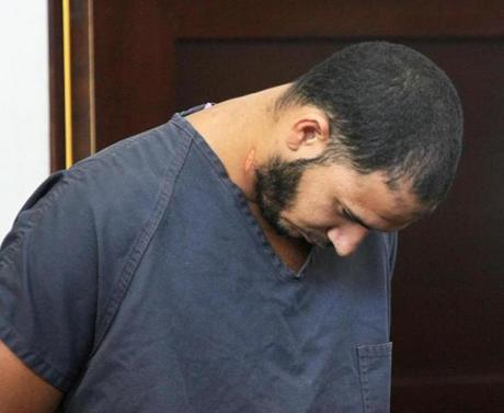 Edwin Alemany was arraigned in the murder of Amy Lord at West Roxbury District Court in August.